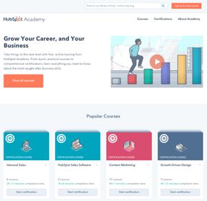 HubSpot Academy homepage