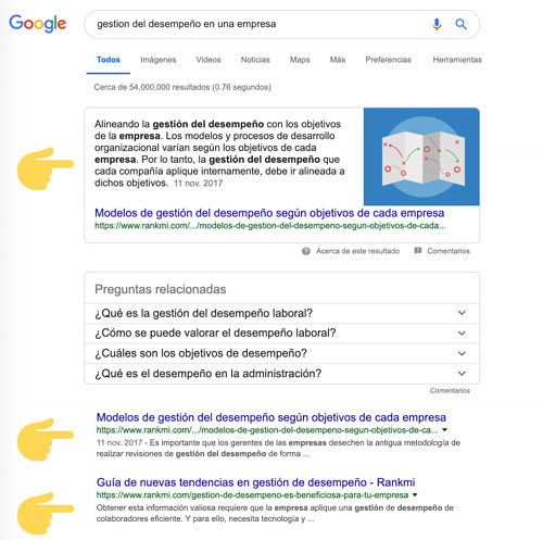 rankmi ranked 1 first position in google search