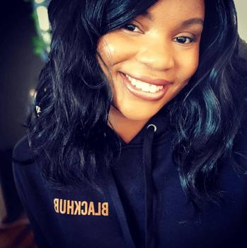 HubSpot employee wearing sweatshirt