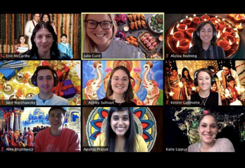 HubSpot Diwali celebration on Zoom