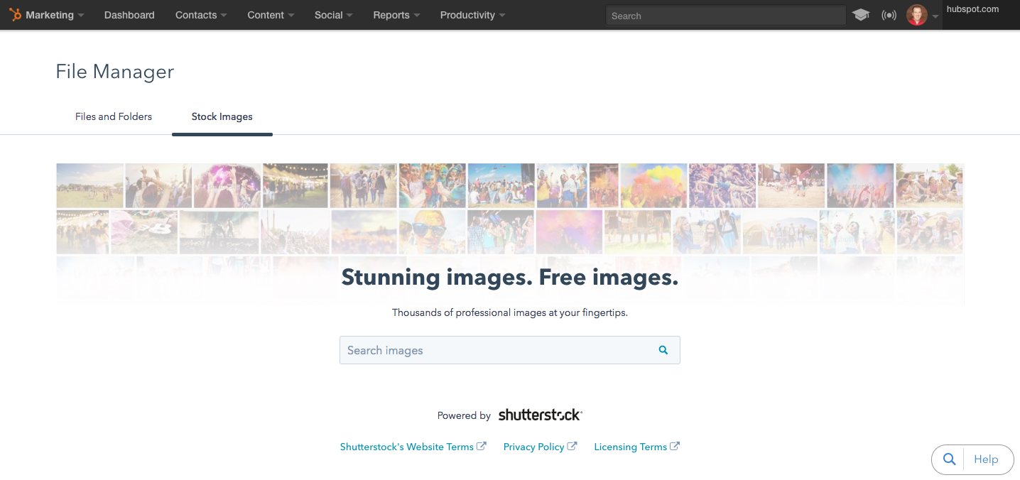 Shutterstock Integration: 60,000 Free Images Available to