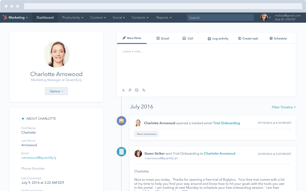 Contacts in HubSpot CRM