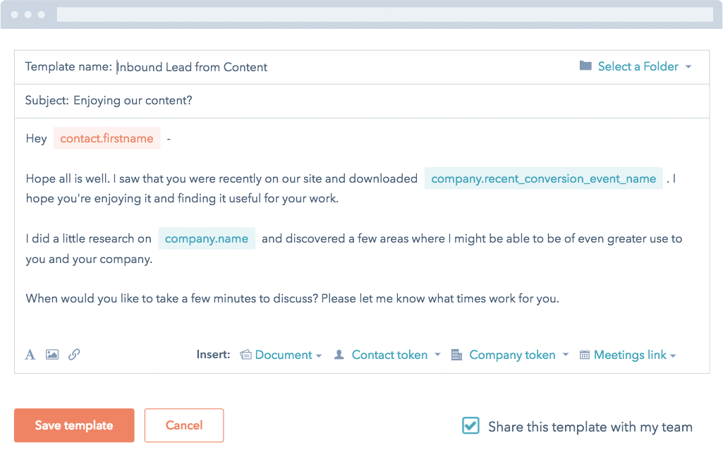 HubSpot CRM Email Templates