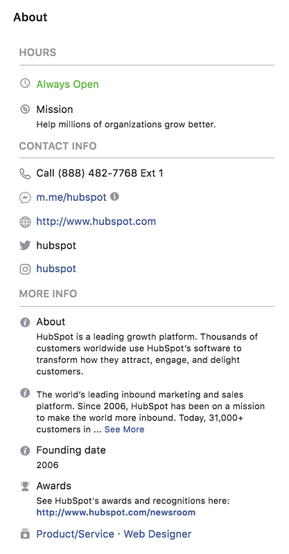 facebook-marketing-hubspot-page-about