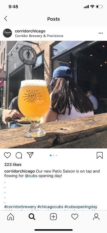 instagram marketing corridor brewing newsjacking post