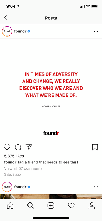 instagram marketing motivational foundr