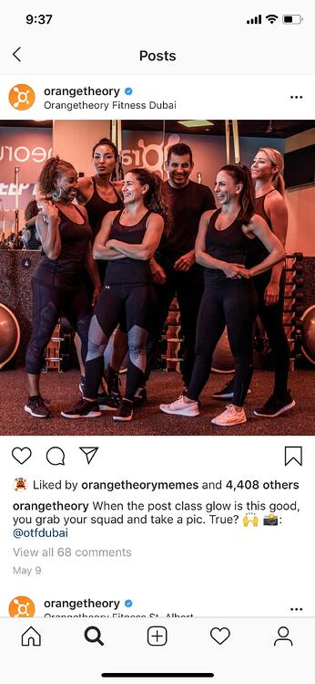 instagram marketing orange theory