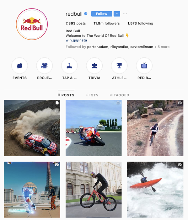 instagram marketing red bull