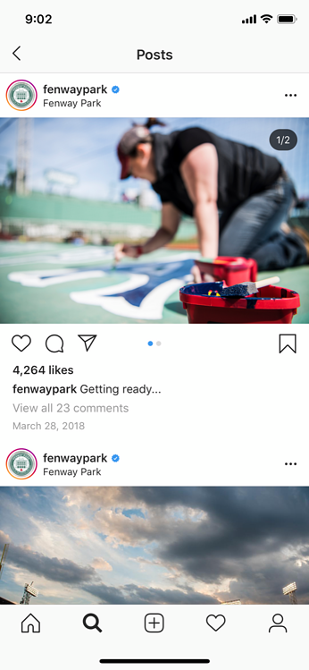 instagram marketing reposts from employees fenway park-1