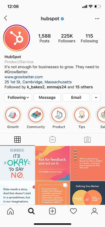 instagram marketing story highlight hubspot