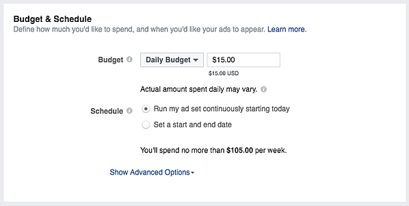 instagram marketing instagram ad budget and schedule