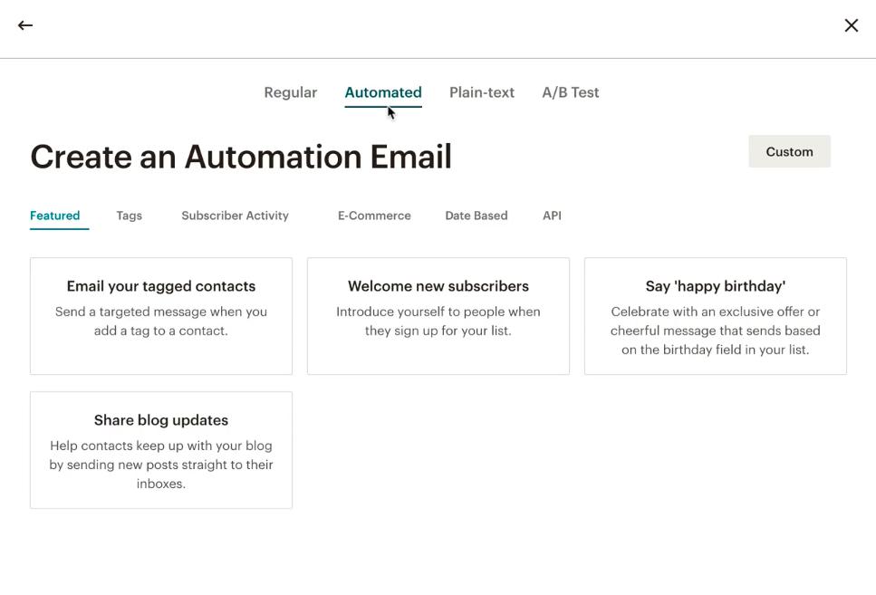mailchimp email automation