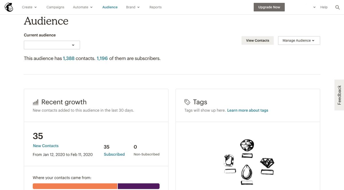 mailchimp-audience-dashboard
