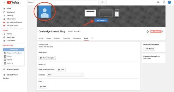 how to create a youtube channel brand account