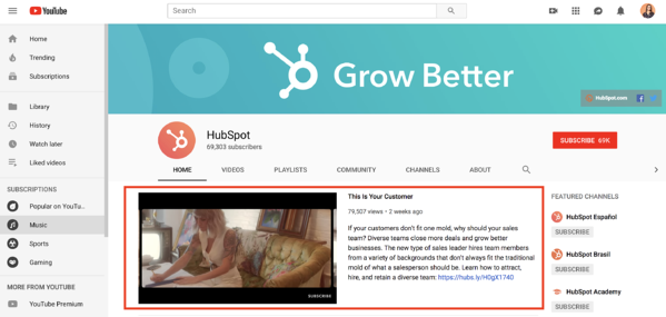 how to create a youtube channel hubspot