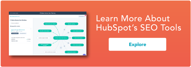 Learn more about HubSpot's SEO tools