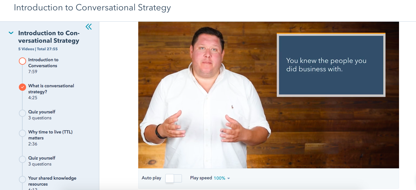 Conversational Growth Strategy Course