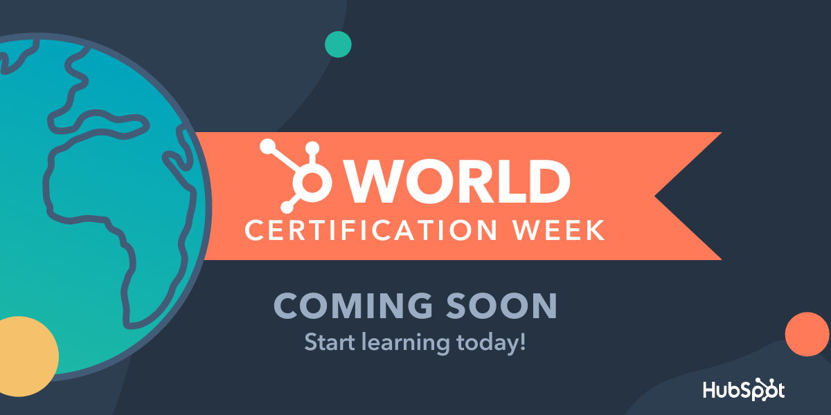 HubSpot Announces World Certification Week to Take Place from August 2 to August 6, 2021
