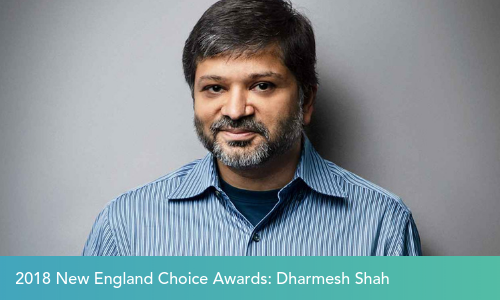 HubSpot's Dharmesh Shah Receives a 2018 New England Choice Award, Celebrating Indian-American Leaders