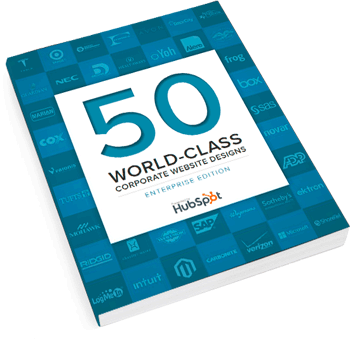 corporate web design hubspot