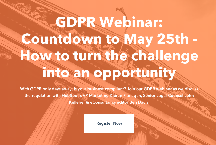 GDPR Webinar: Countdown to May 25th