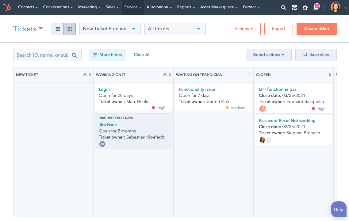 Get started with HubSpot's customer service ticketing system.