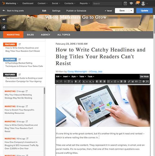 HubSpot Blogging Software