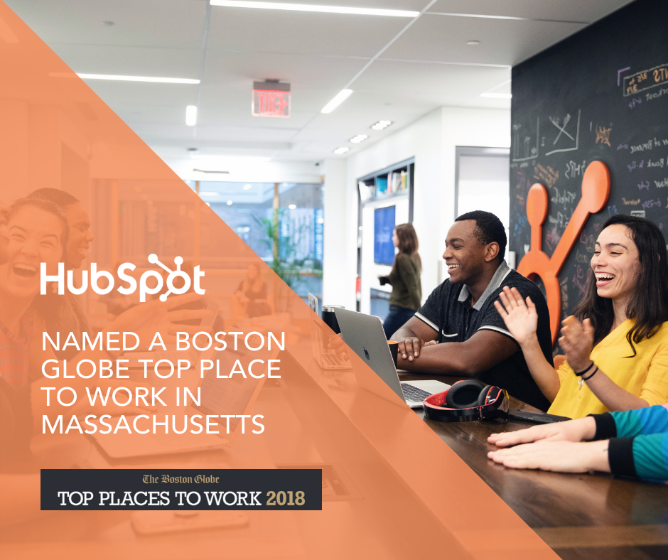 The Boston Globe Names HubSpot a Top 10 Place to Work for 2018