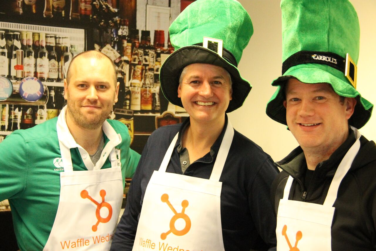 When Waffle Wednesday meets St. Patrick's Day