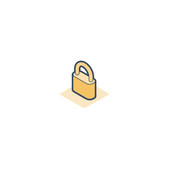 Padlock illustration to indicate safeguards