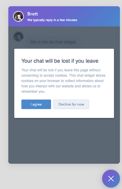 Exit Intent Cookie Banner in Chatflows-3