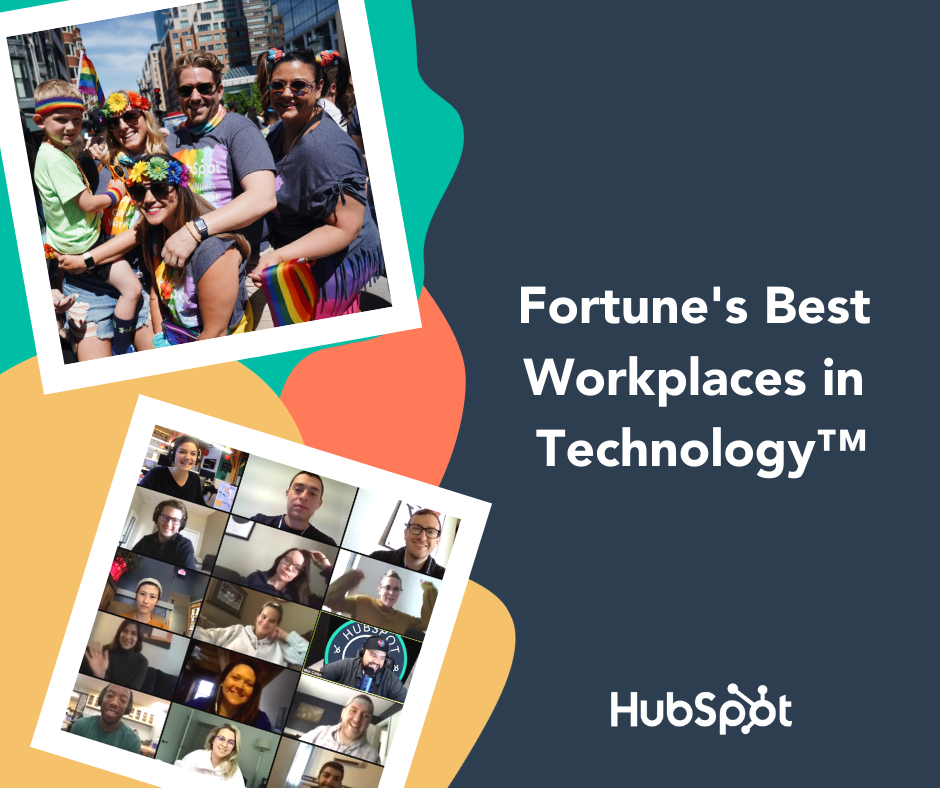HubSpot Named a 2020 Best Workplace in Technology by Great Place to Work® and Fortune