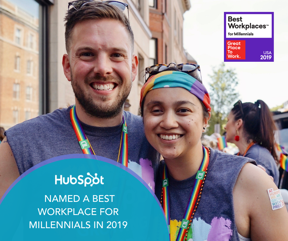 HubSpot Named a Best Workplace for Millennials in 2019 by Great Place to Work® and FORTUNE