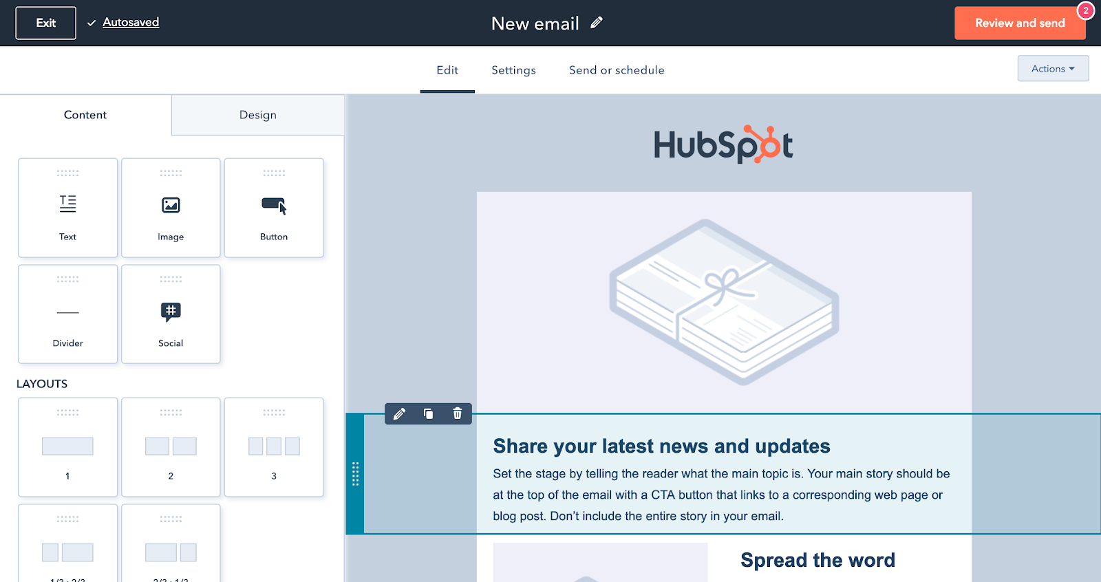 Kostenlose E-Mail-Marketing-Tools im HubSpot CRM