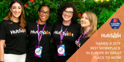 HubSpot Ranked One of the 2019 Best Workplaces in Europe by Great Place to Work®