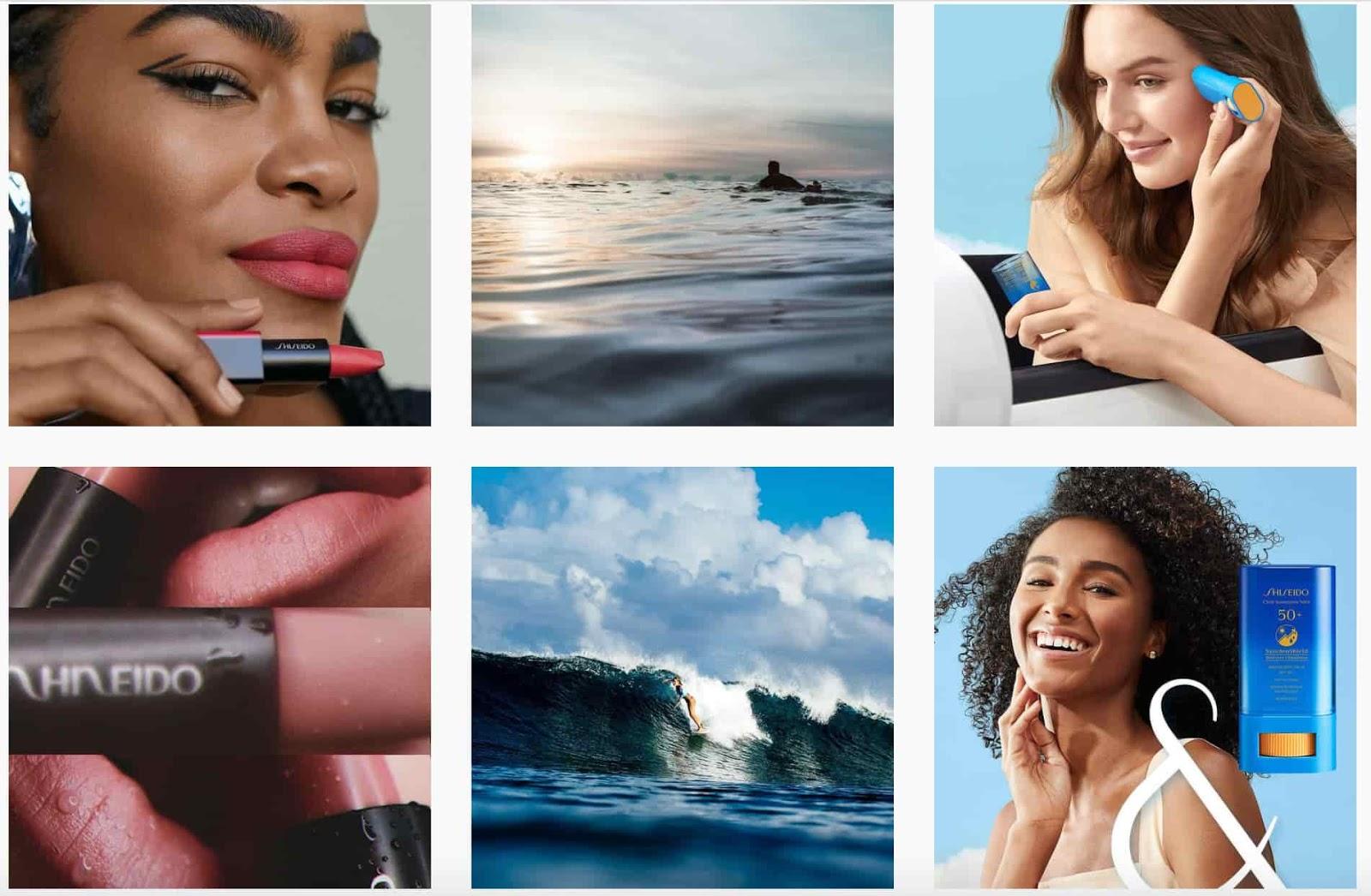 Shiseido instagra, brand