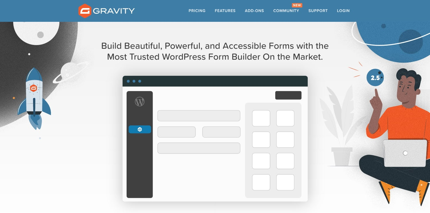 product homepage for the wordpress file upload plugin gravity forms