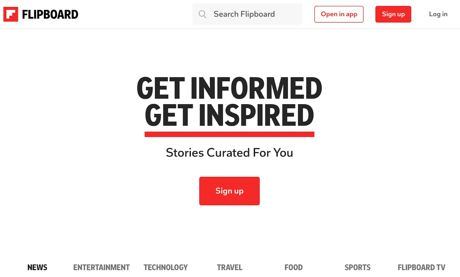 Content curation tool Flipboard