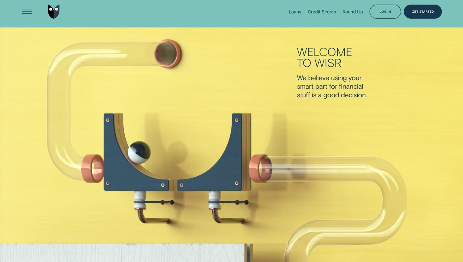 homepage for the small business website design example wisr