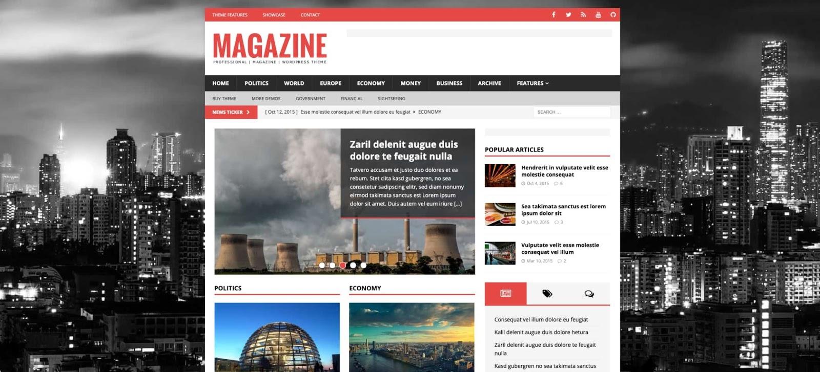 demo of the wordpress theme for adsense mh magazine