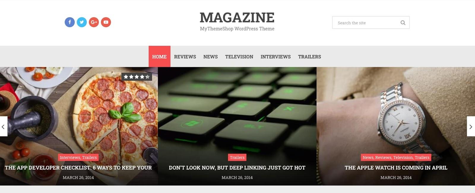demo of the wordpress theme for adsense magazine
