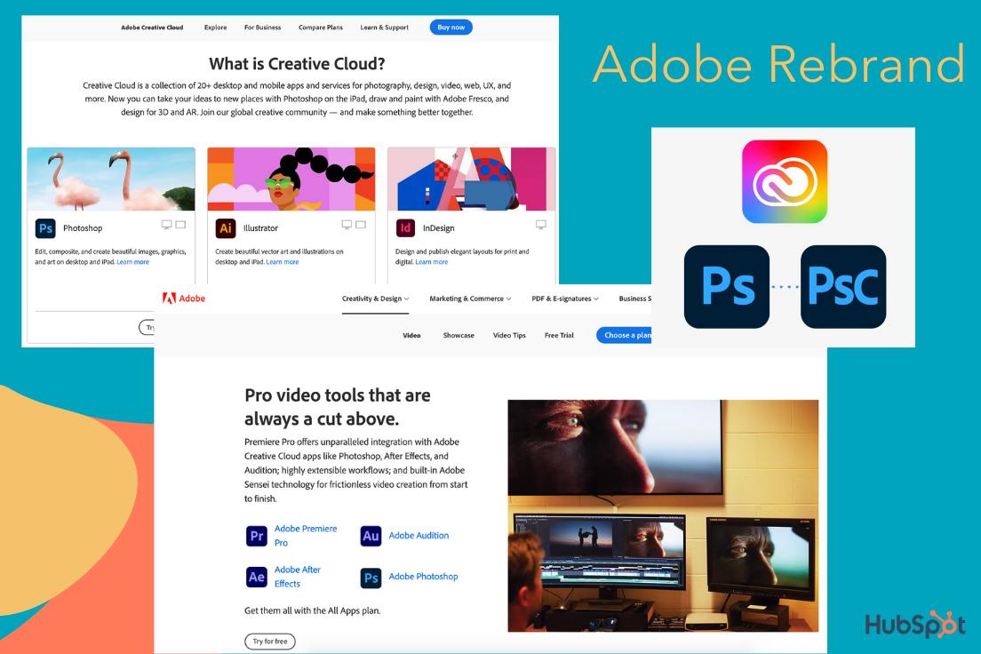 Adobe's rebranding of the Creative Cloud