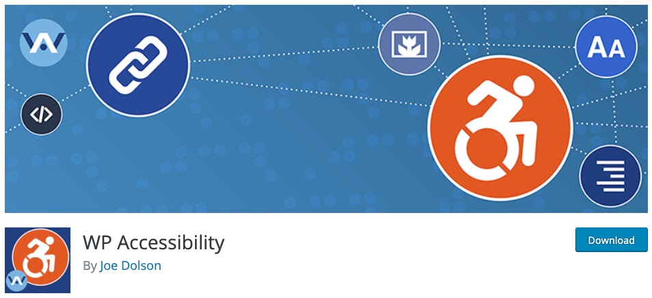 download page for the wordpress accessibility plugin WP accessibility
