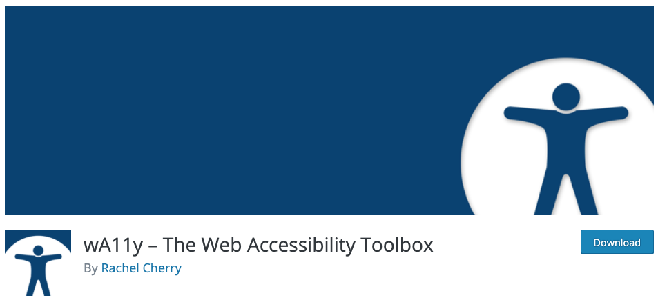 download page for the wordpress accessibility plugin wA11y (web accessibility)