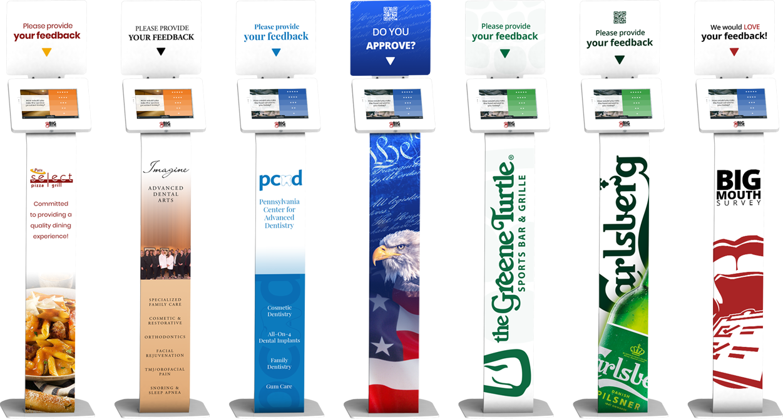 survey kiosk examples to collect customer feedback