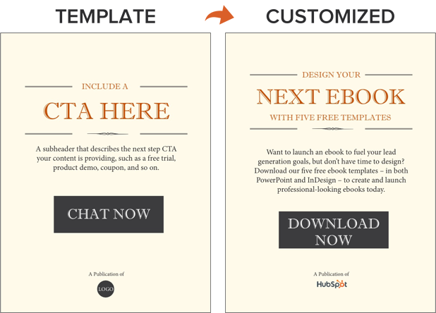 example of including a call to action within an ebook template