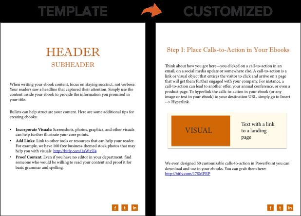 examples of using hyperlinks in ebook template
