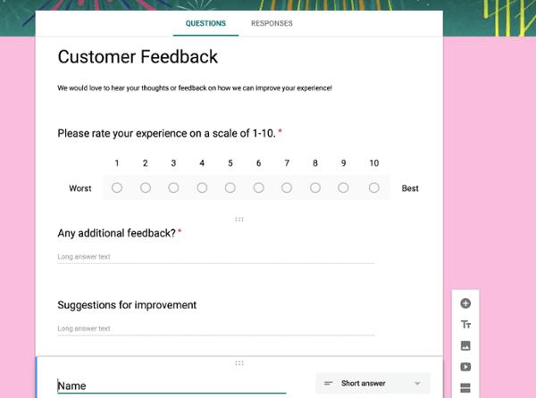 Customer satisfaction long survey