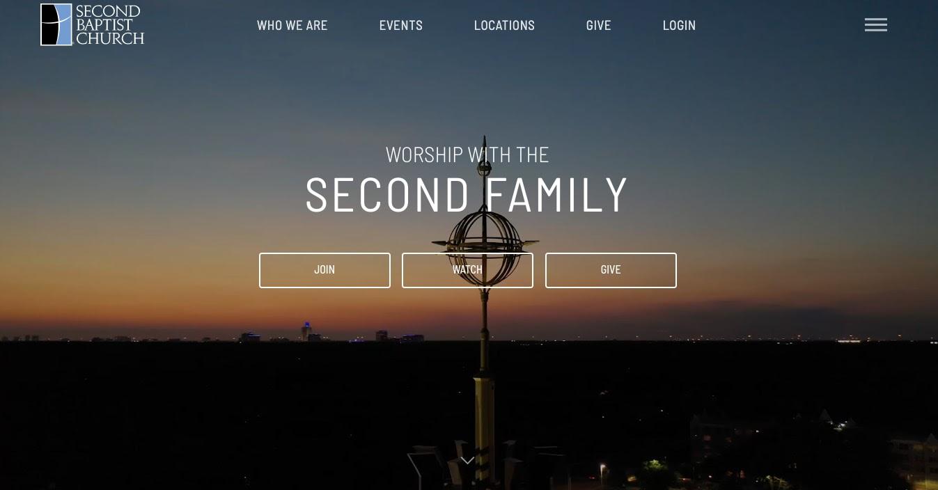 church websites: Second Baptist Church