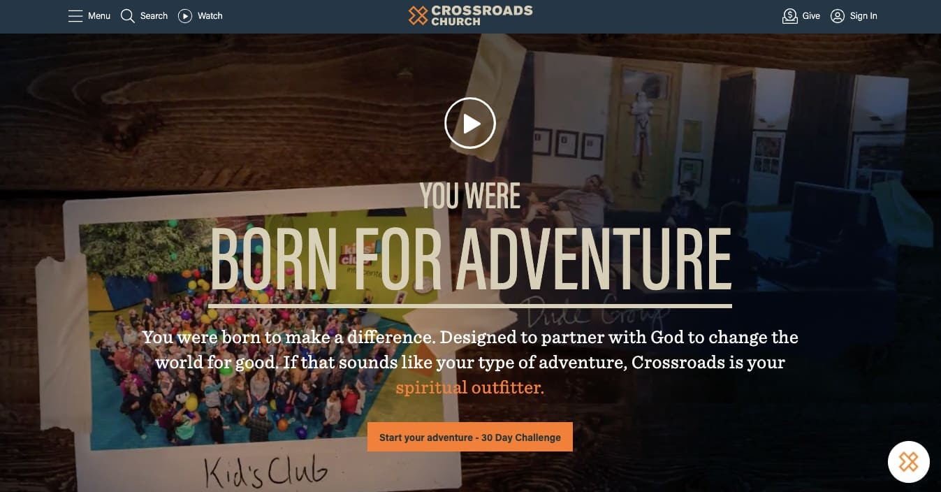 church websites: Crossroads Community Church